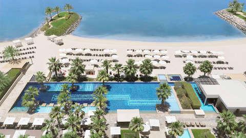 Fairmont Bab Al Bahr Aerial Pool View
