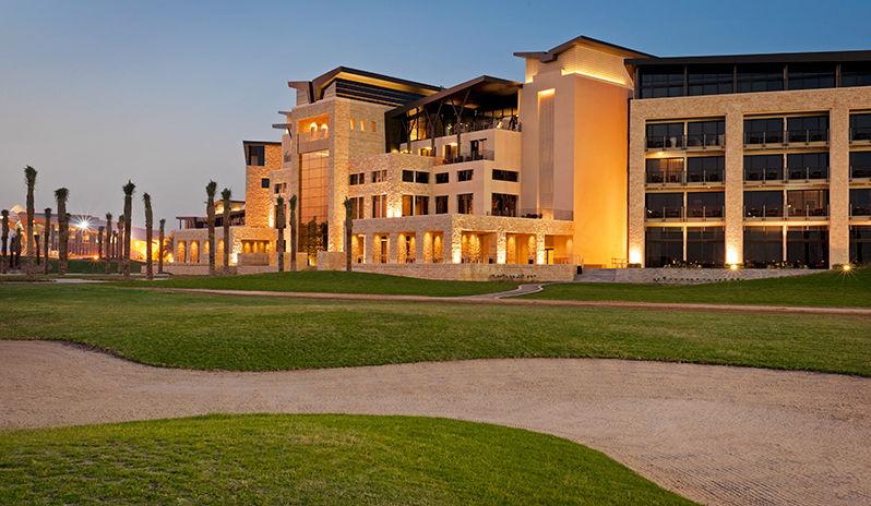 The Westin Abu Dhabi Golf Resort Spa Exterior At Night