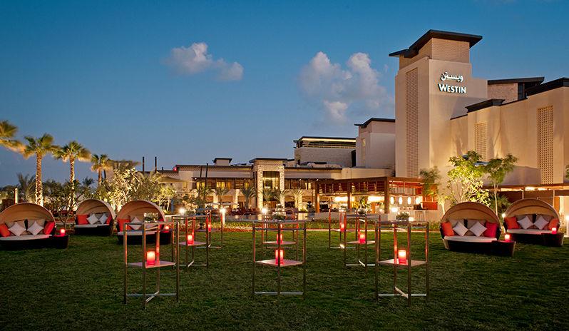 The Westin Abu Dhabi Golf Resort Spa Shades Event Lawn Cocktail Setup